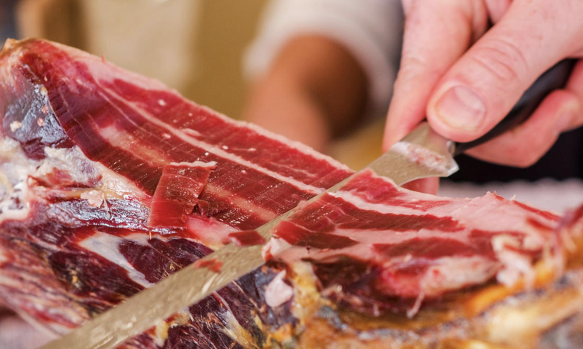 cortar jamón ibérico de bellota