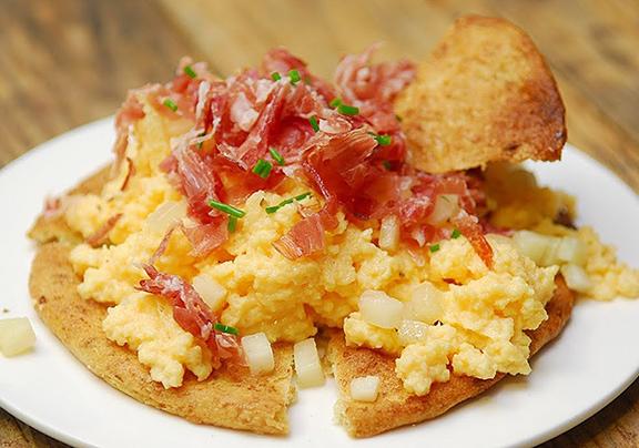 jamón jabugo desayuno saludable